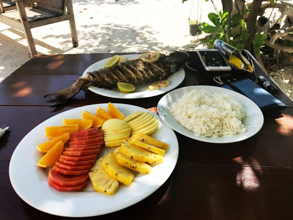 comer en maldivas