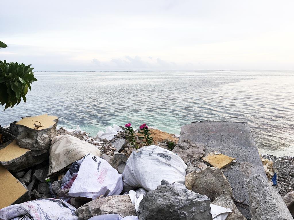 suciedad en maldivas