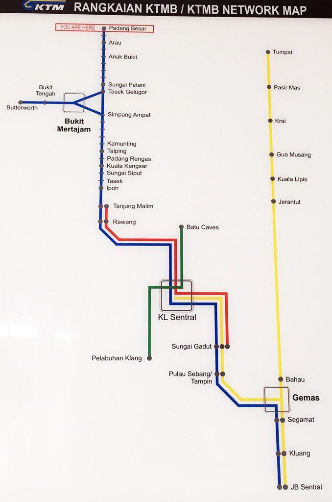 Paradas tren desde Padang Besar