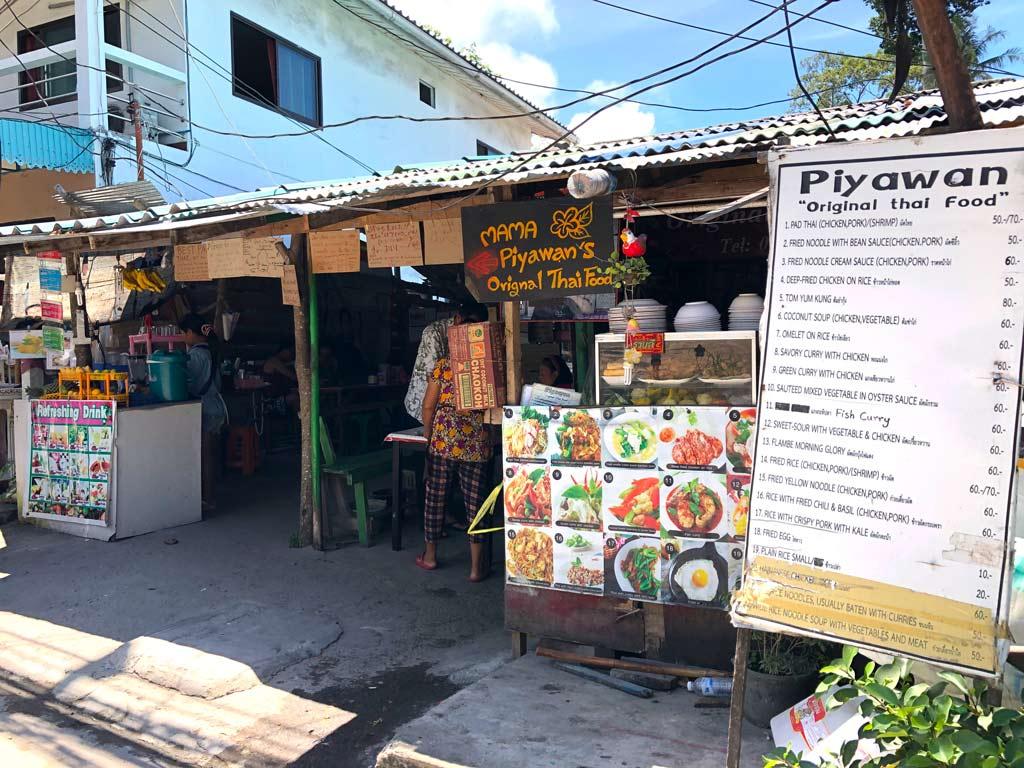donde comer en Koh Tao